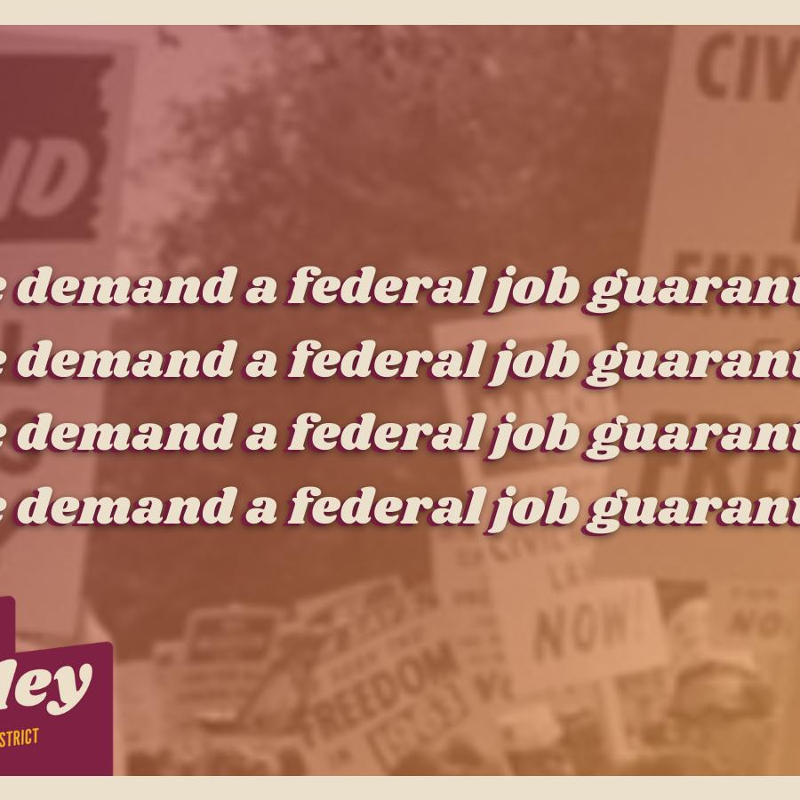 we demand a job guarantee